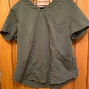 Dark Green Scrubstar women's Scrub SET joggers XL